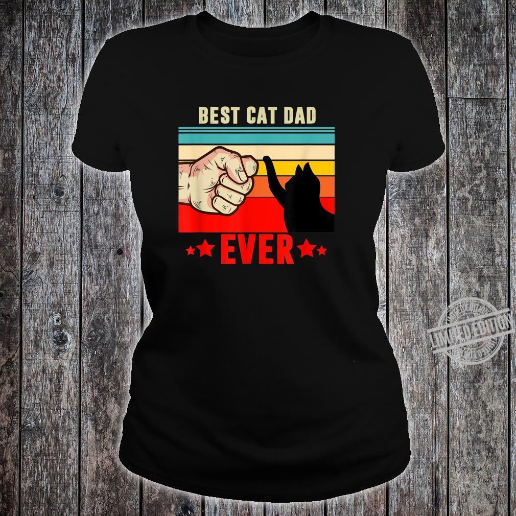 Best Cat Dad Ever, Cat Dad Father Vintage Shirt ladies tee
