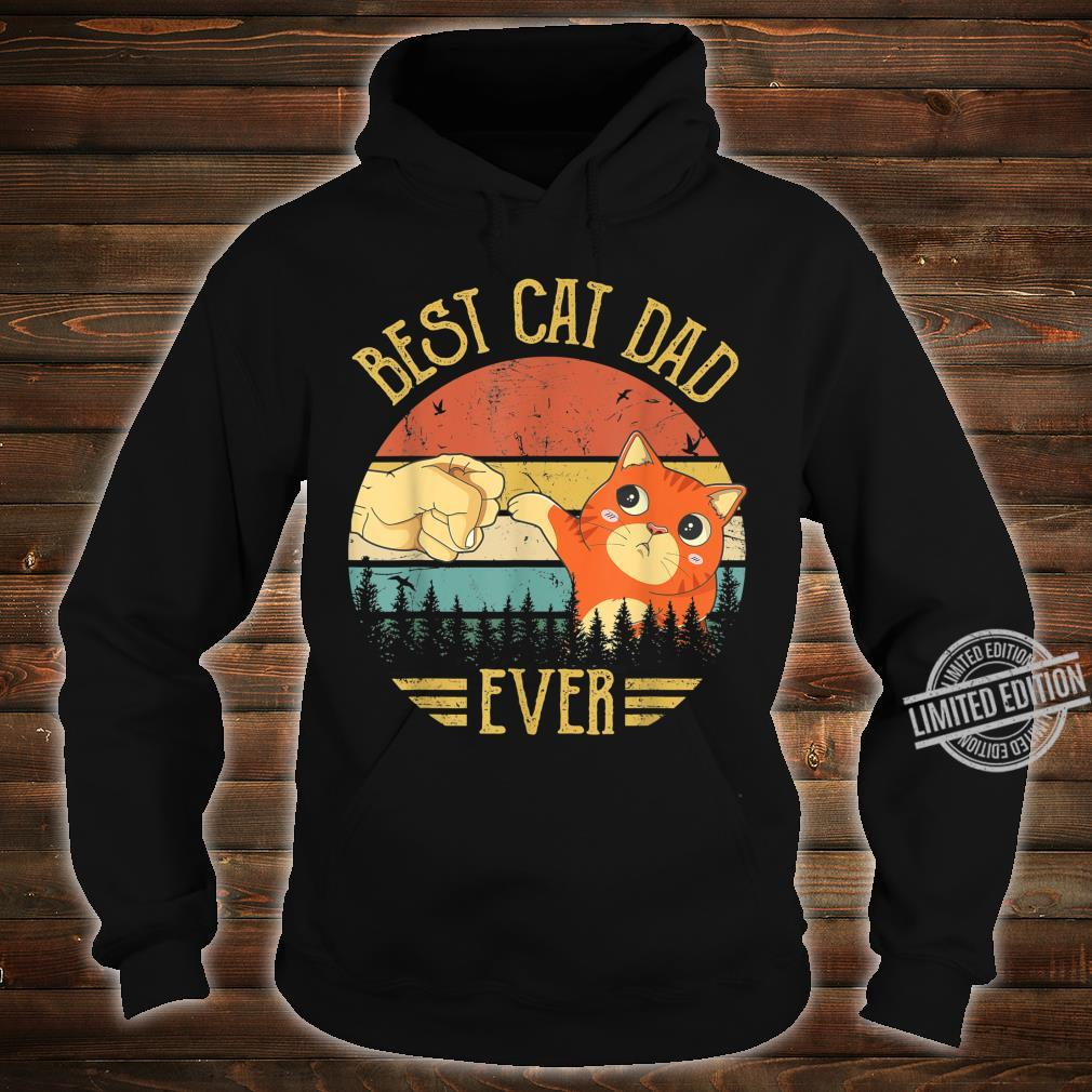 Best Cat Dad Ever Paw Fist Bump Fit Vintage Retro Shirt hoodie