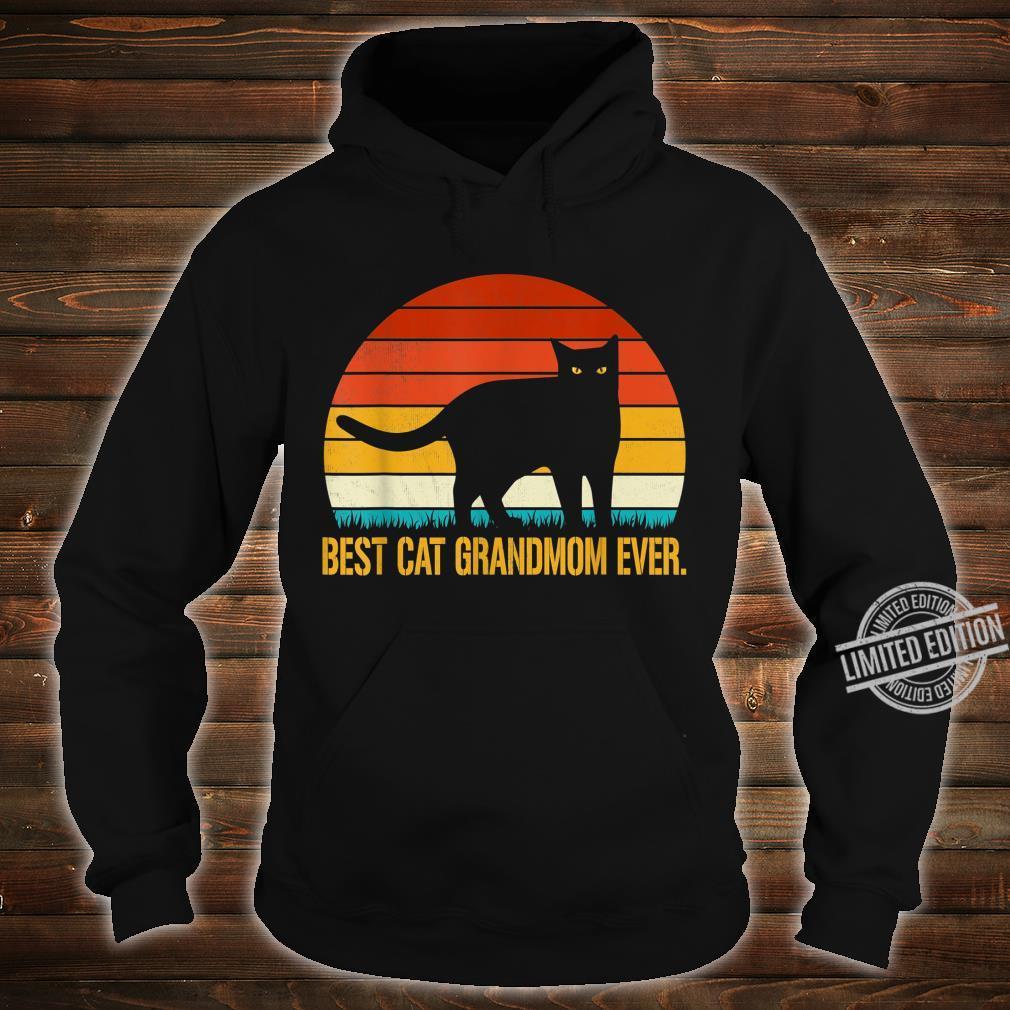Best Cat Grandmom Ever Shirt Vintage Retro Cat Shirt hoodie