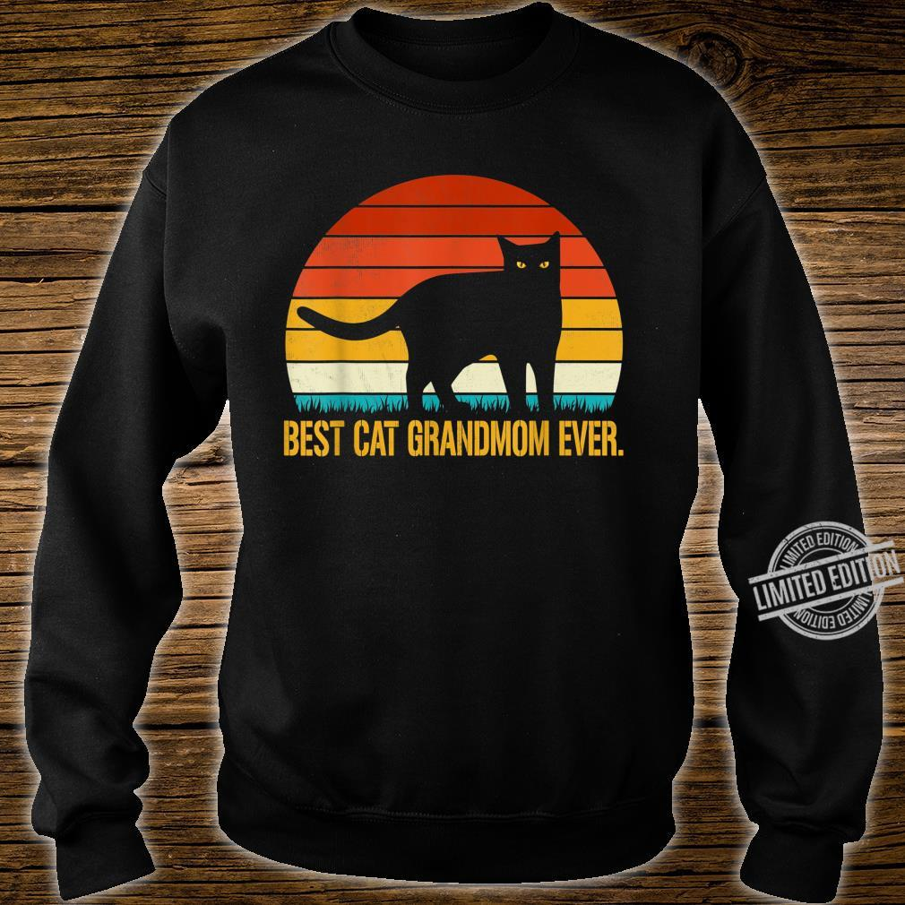 Best Cat Grandmom Ever Shirt Vintage Retro Cat Shirt sweater
