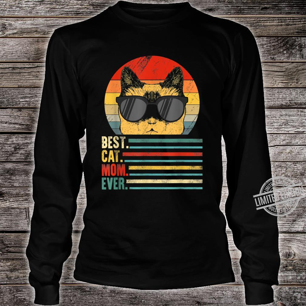 Best Cat Mom Ever Fist Bump Mothers day Vintage Shirt long sleeved