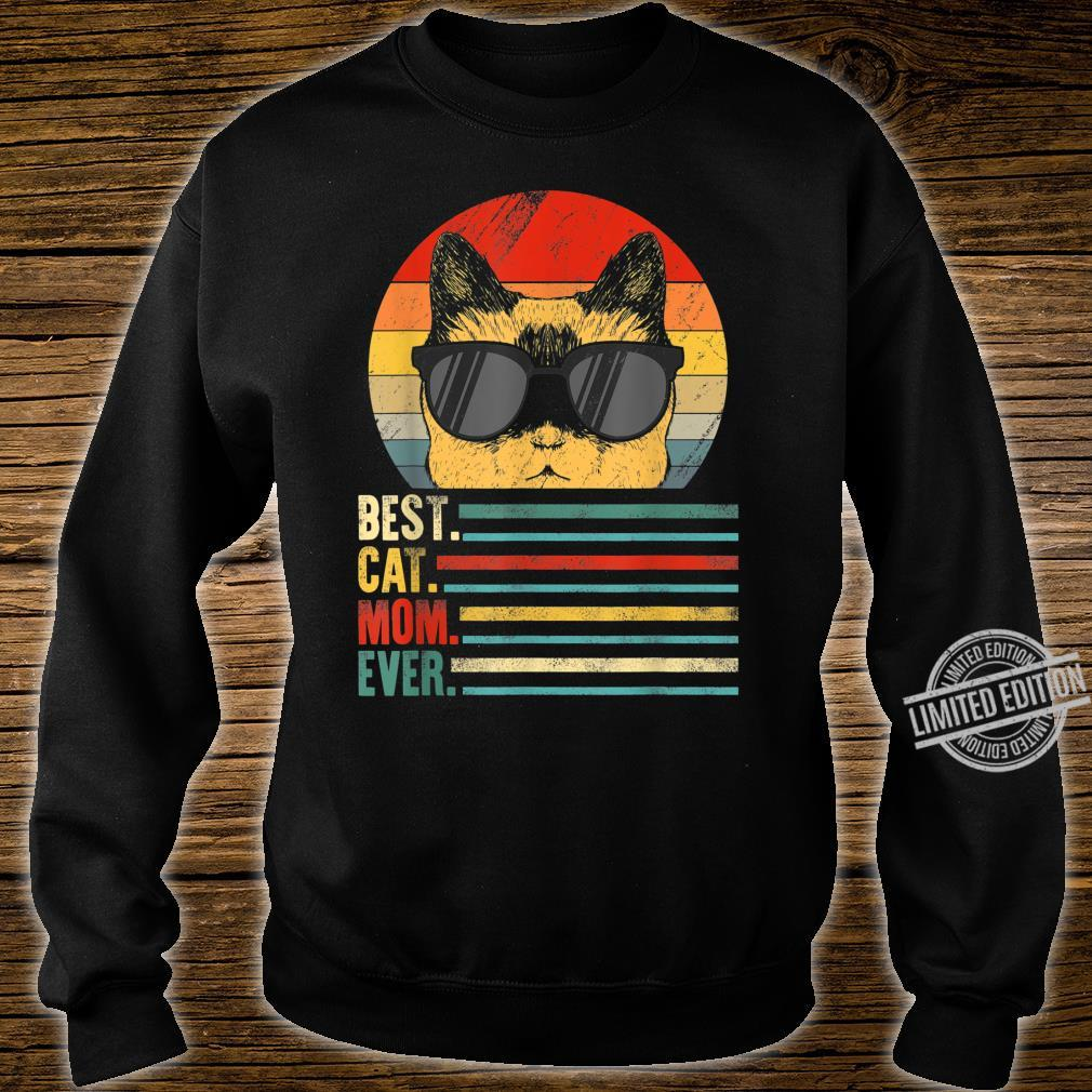 Best Cat Mom Ever Fist Bump Mothers day Vintage Shirt sweater
