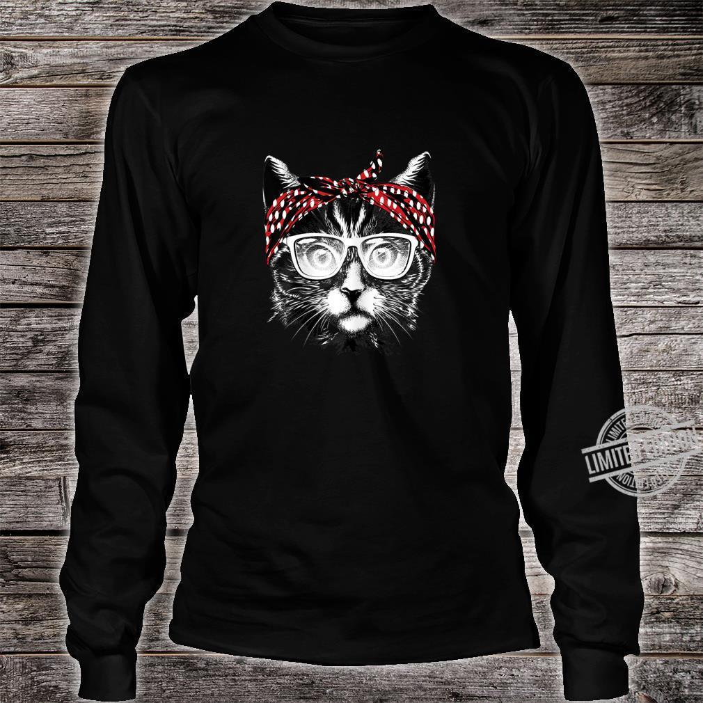 Best Cat Mom Ever Katzenmama Katzenmotiv Geschenk Damen Shirt long sleeved