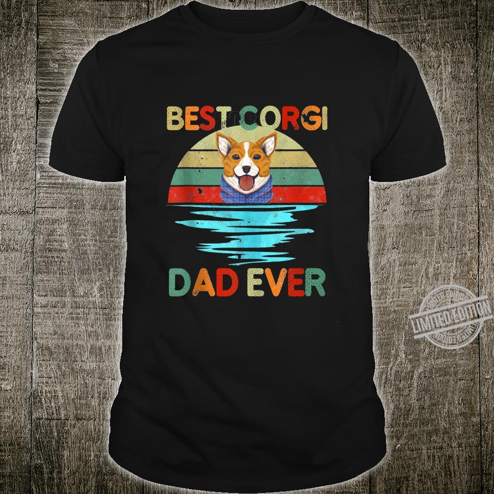 Best Corgi Dad Ever Daddy Dog Owner Shirt