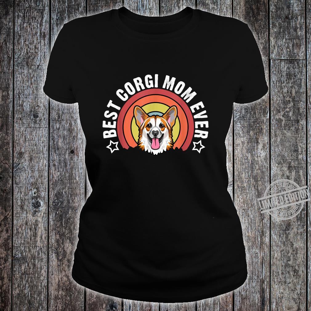 Best Corgi Mom Ever Dog Mommy Shirt ladies tee