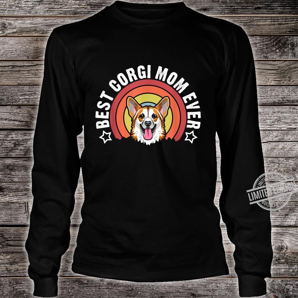 Best Corgi Mom Ever Dog Mommy Shirt long sleeved