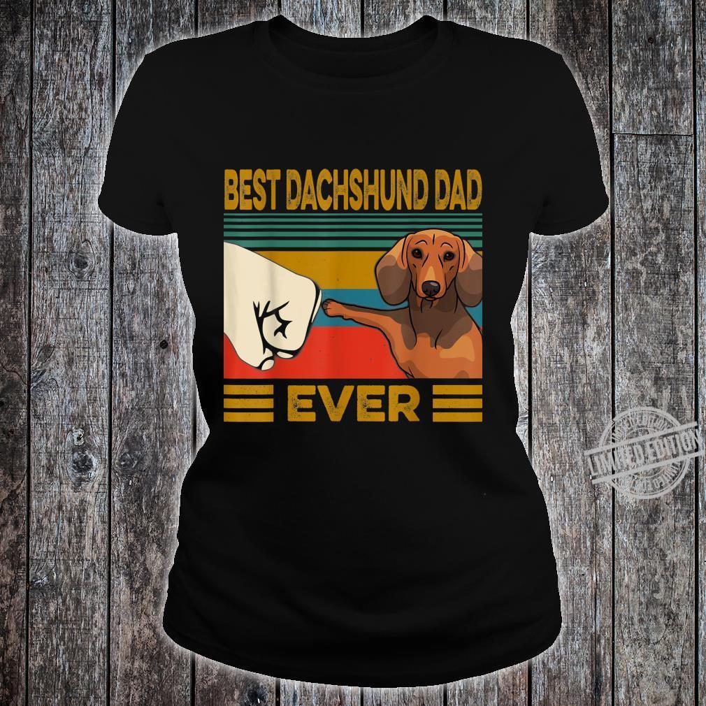 Best Dachshund Dad Ever Shirt ladies tee