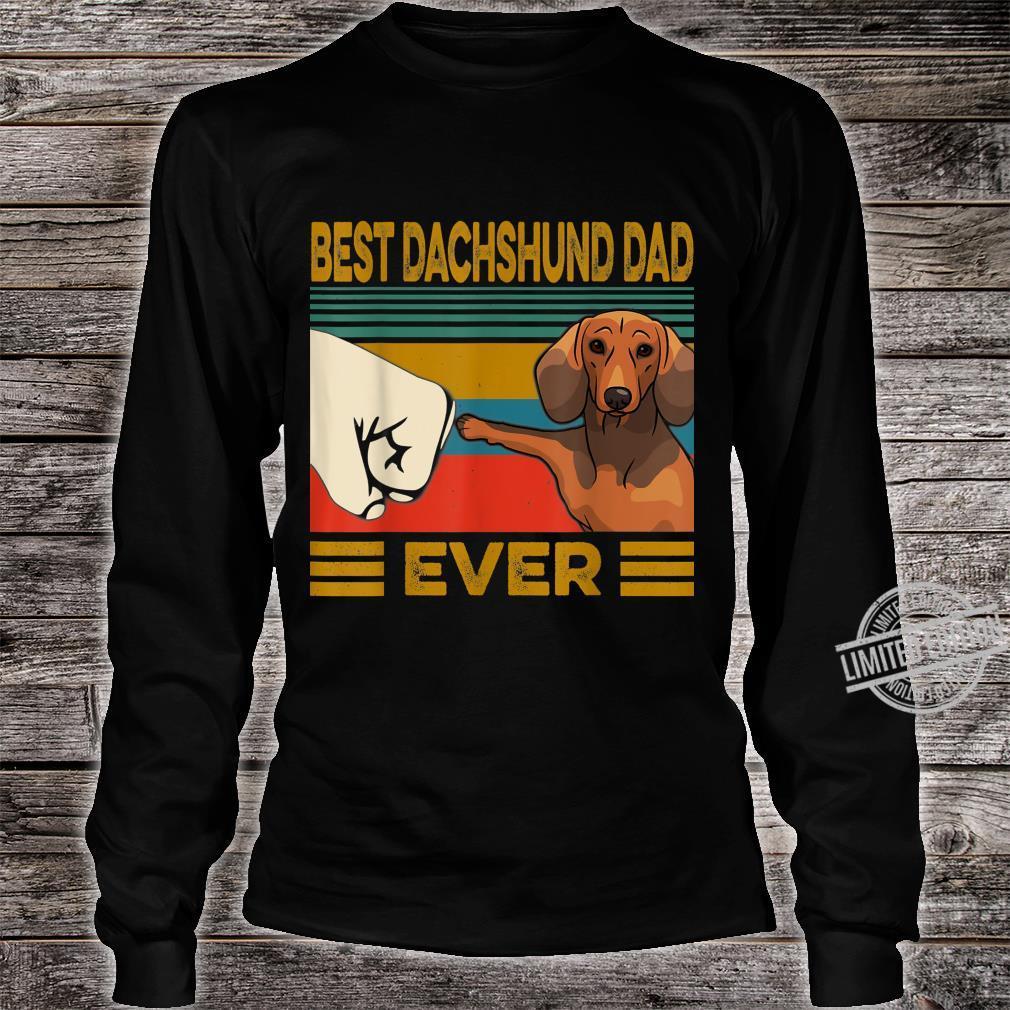 Best Dachshund Dad Ever Shirt long sleeved