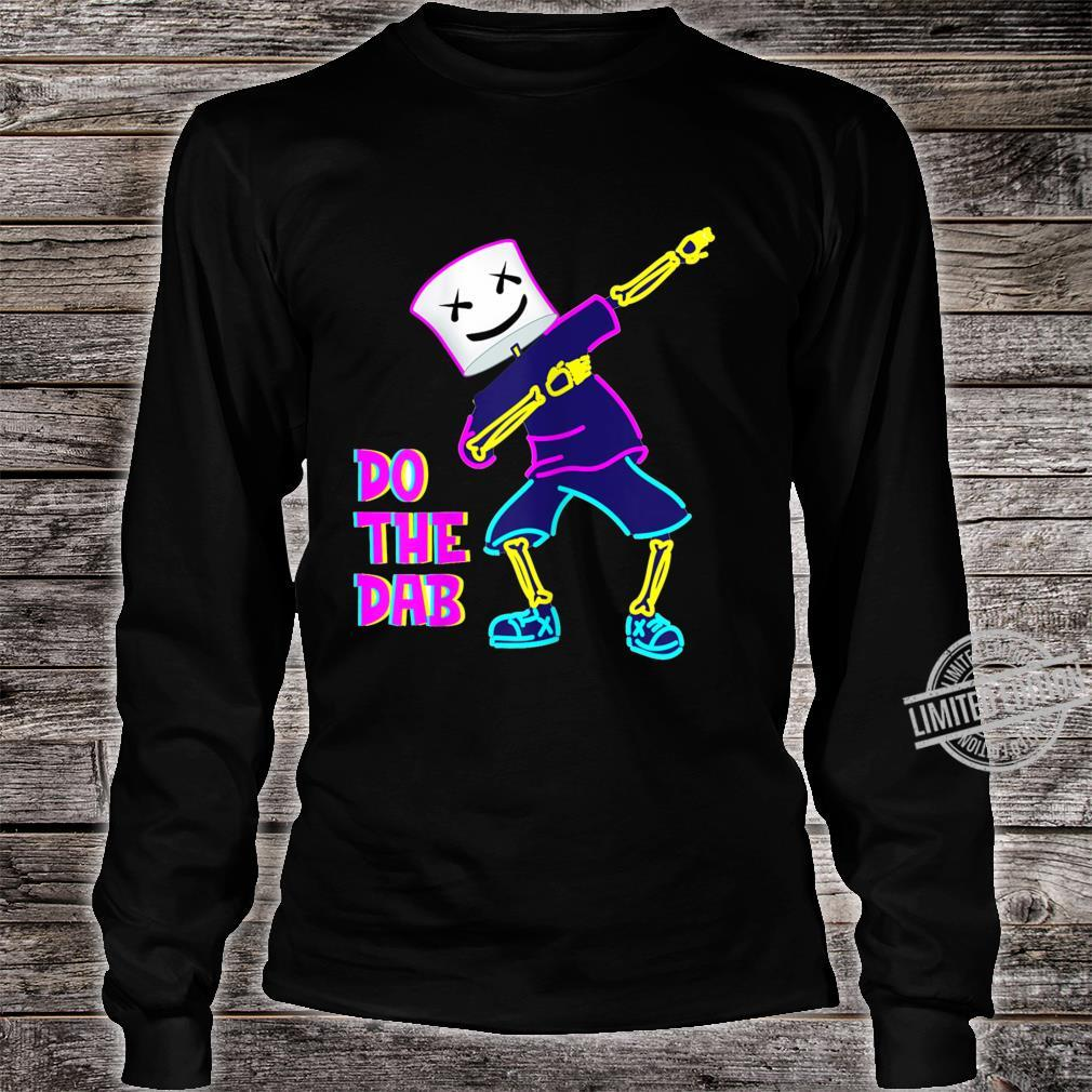 Best Dancing Dj With Goofy Marshmallow Face For Clubbing Shirt long sleeved
