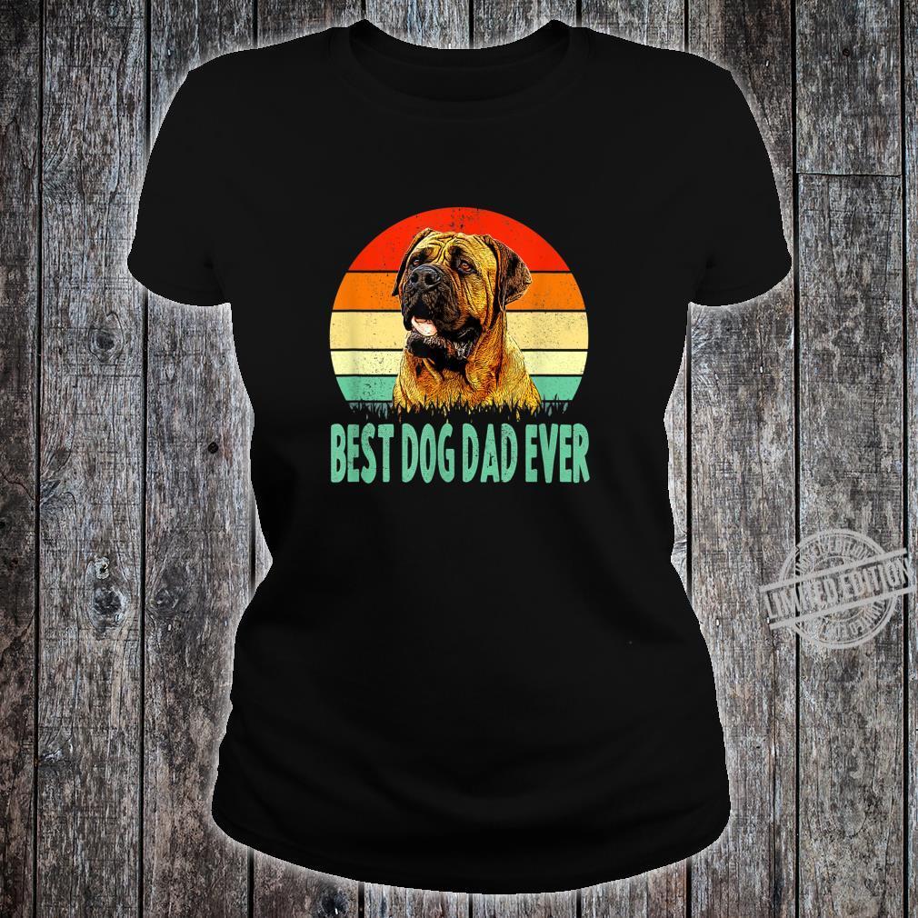 Best Dog Dad Ever Dogue de Bordeaux Shirt ladies tee