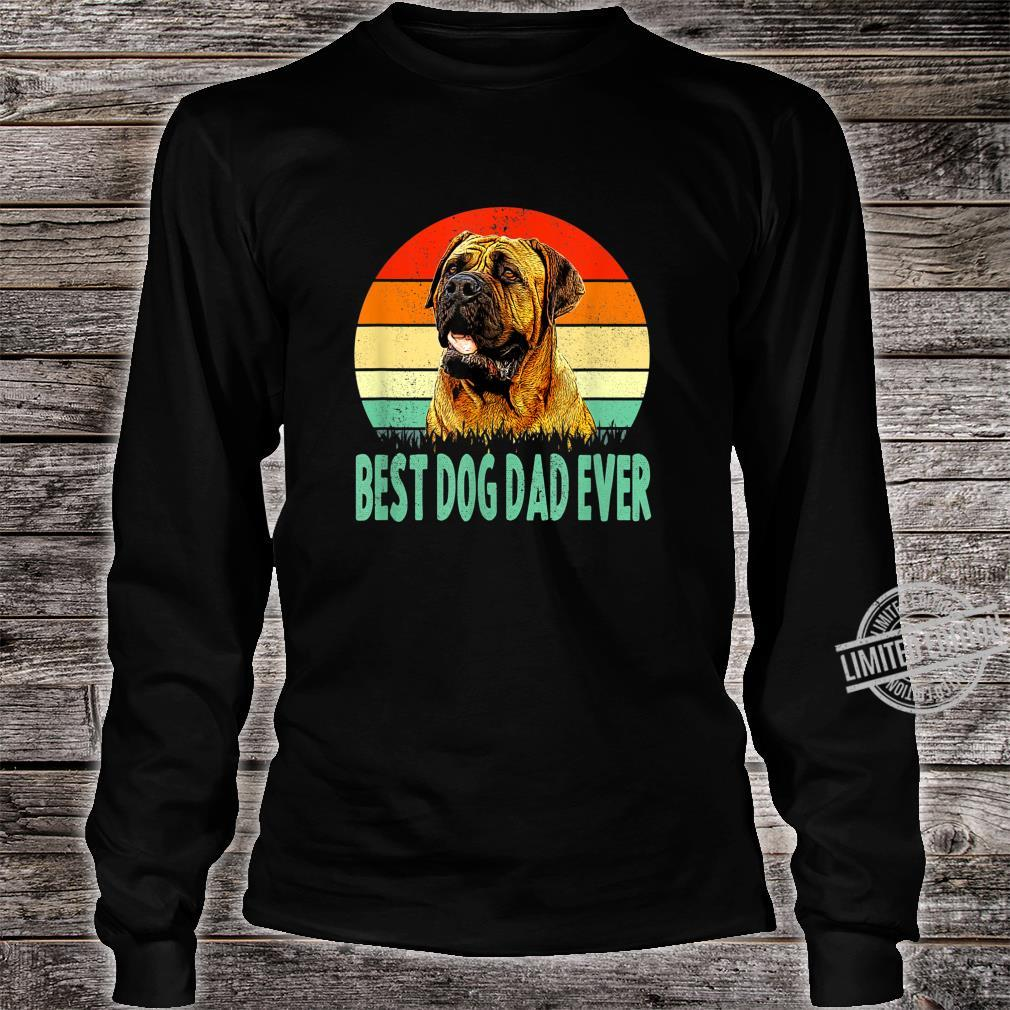Best Dog Dad Ever Dogue de Bordeaux Shirt long sleeved