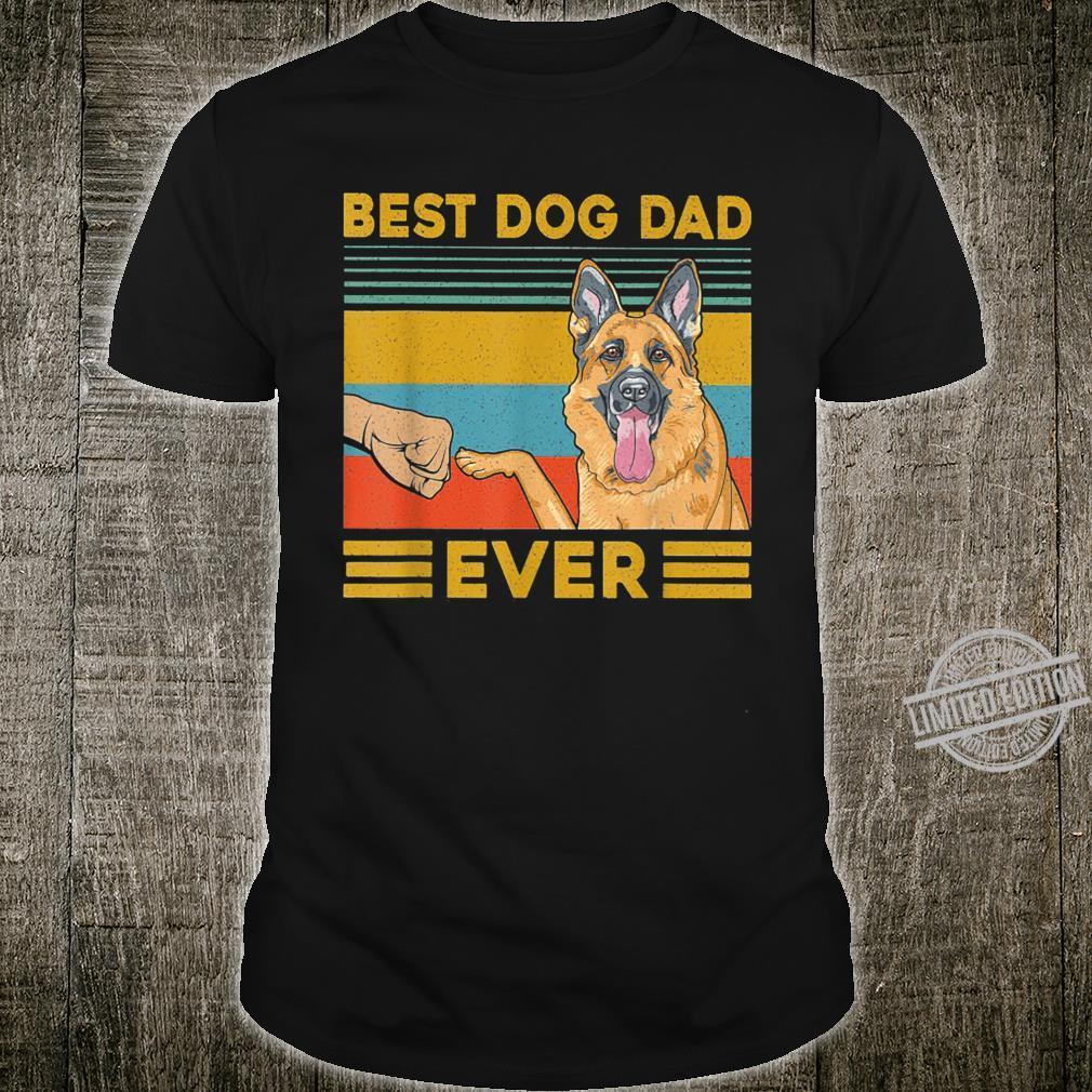 Best Dog Dad Ever German Shepherd Retro Vintage Shirt