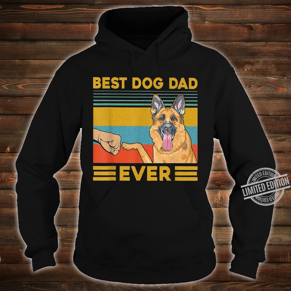 Best Dog Dad Ever German Shepherd Retro Vintage Shirt hoodie