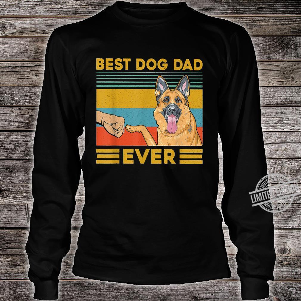 Best Dog Dad Ever German Shepherd Retro Vintage Shirt long sleeved