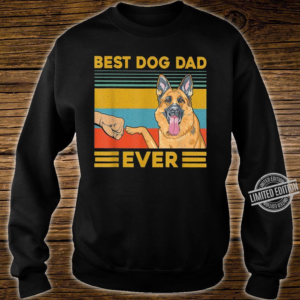 Best Dog Dad Ever German Shepherd Retro Vintage Shirt sweater