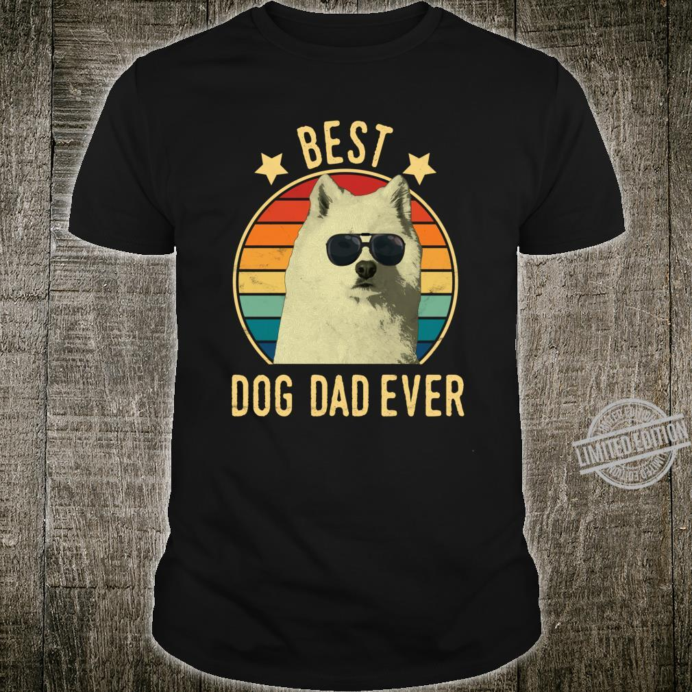 Best Dog Dad Ever Samoyed Father's Day Shirt