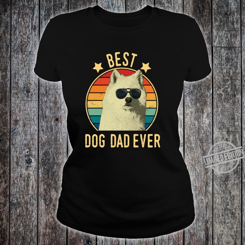 Best Dog Dad Ever Samoyed Father's Day Shirt ladies tee