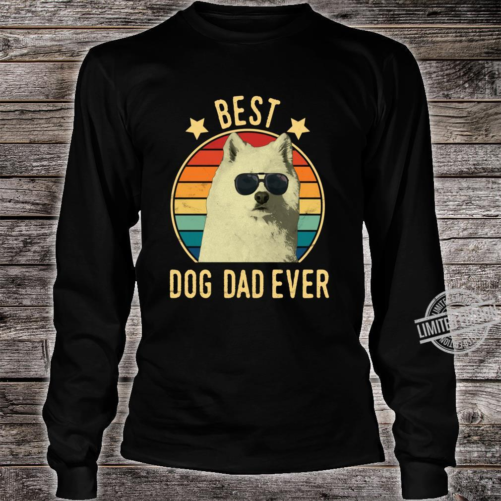 Best Dog Dad Ever Samoyed Father's Day Shirt long sleeved