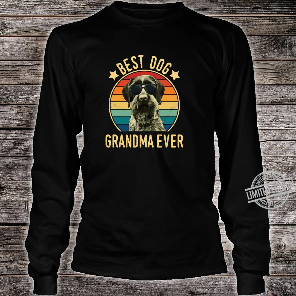 Best Dog Grandma Ever German Wirehaired Pointer Mother's Day Shirt long sleeved