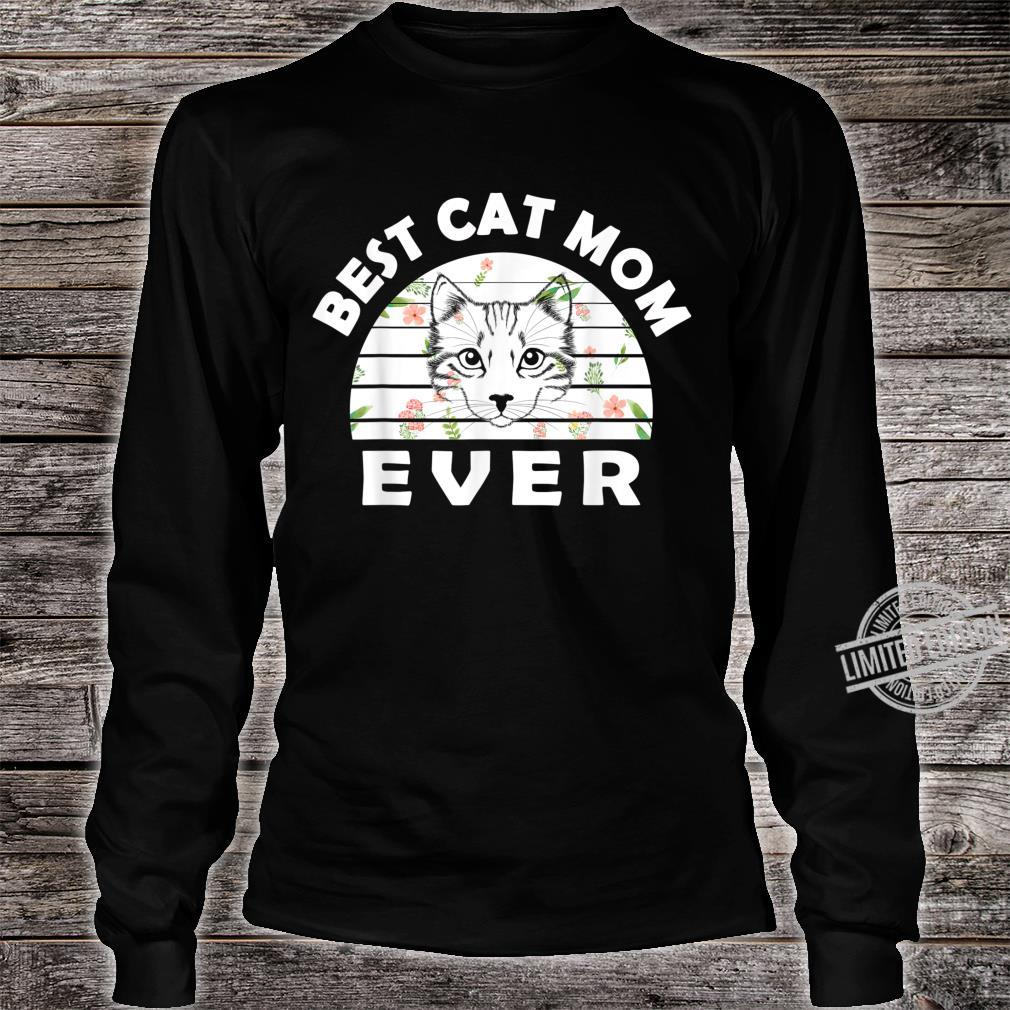 Best cat mom ever awesome cat Shirt long sleeved