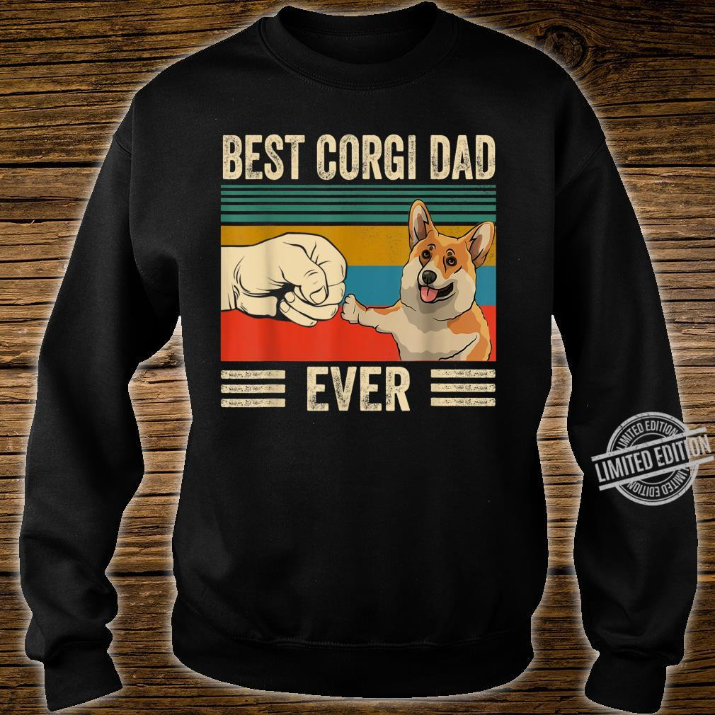 Best corgi Dad Ever bump fit vintage retro Shirt sweater